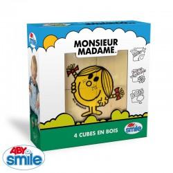 4 Cubes en Bois Monsieur...