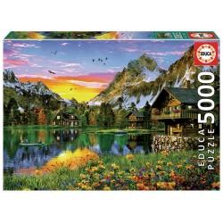 Puzzle 5000 pièces - Lac Alpin