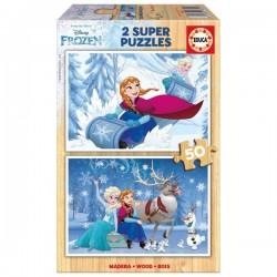 2 Super Puzzles 50 pièces -...