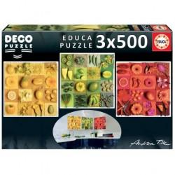 Puzzle 3x500 pièces -...